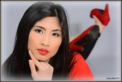 Tan - High Heels (mountford21) Tags: portrait asian nikon highheels thai redlips blackhair d800 elinchrom mountford modelmayhem d4s portraitprofessional destinytarn 2931993