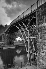 Iron Bridge (sparky4072) Tags: world bridge bw white black heritage canon river mono iron shropshire ironbridge unesco severn gorge sute 60d