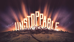 Unstoppable  breakthrough concept v2 (HellothisisJeff Design) Tags: light typography 3d crash capital series rays burst campaign erupt sermon expansion exploding