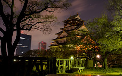 Japan - saka-j (Sgt Garcia F) Tags: castle japan night long exposure osaka  sakaj japon2013