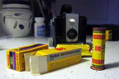 Kodak Brownie Hawkeye and expired film (mobilene) Tags: film cameras expiredfilm verichromepan
