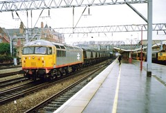 Crewe, 19th September 1992 (elkemasa) Tags: crewe emu 1992 sprinter dmu class158 class56 class304
