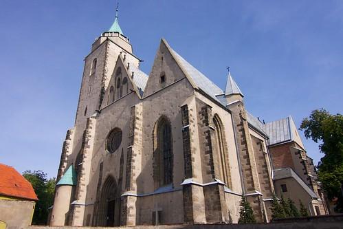 Kościół św. Marcina w Jaworze od południowego zachodu