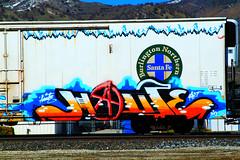 Huate (EF661AV) Tags: california ca train canon graffiti desert 7d lancaster boxcar graff