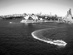 Any which way (Light Discovery) Tags: street city urban bw white black landscape freestyle candid sydney operahouse habour