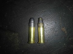 two types of .22 LR rimfire rounds (Gunsandfun) Tags: point 22 hp long eagle rifle american hyper bullet 40 grains bullets lead hollow remington caliber longrange hypervelocity boatail flickrandroidapp:filter=none yellowjackethp 33grain