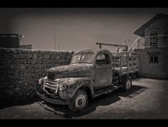 Broken Down Truck (Bolivia) (departing(YYZ)) Tags: travel blackandwhite southamerica sepia truck nikon transport sigma bolivia dslr 1770 hdr yyz departing salardeuyuni 2011 d90 tonemapped f2840 departingyyz