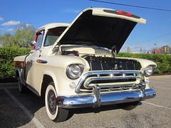 1957 Chevy 3124 Cameo (splattergraphics) Tags: truck pickup chevy 1957 cameo cruisenight 3124 glenburniemd lostinthe50s marleystationmall
