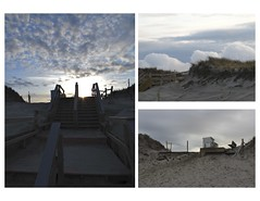nauset beach staircase before and after (garden beth) Tags: ocean power erosion beaches climatechange nauset capecode nausetbeach capecodnationalseashore hurricanesandy winterstormnemo blizzard2013 2013april