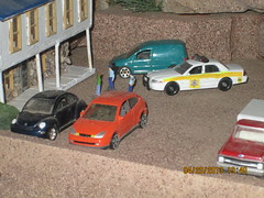 Animal control (I.C.R) Tags: toy layout model law department dioramas diecast sheriffs animalcontrol fordcrownvictoriapoliceinterceptor 164scale diecastdioramas hoscalefigures