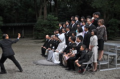 Family photo and a rubber duck (mari-chan.) Tags: shrine familyphoto rubberduck japanesewedding meijijingu traditionalwedding