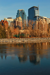 Calgary Urban Landscaping (LostMyHeadache: Absolutely Free *) Tags: city trees sky urban calgary nature water glass architecture canon buildings reflections river landscape downtown structures davidsmith calgaryalbertacanada eos60d