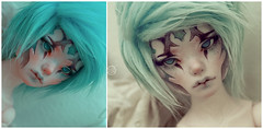 Bity bait (Bluoxyde) Tags: blue color doll ooak fantasy bjd custom abjd faceup dollmore narsha zihu