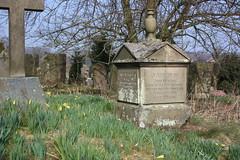 Grave of John & Sarah Vickers (Hawk Moth) Tags: england grave graveyard memorial derbyshire rip headstone graves gravestone builder chatsworth stpeterschurch edensor stpeterschurchyard johnvickers sarahvickers caltonhouses