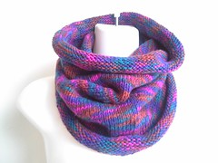 berry mix knit cowl (smittenkittenorig) Tags: scarf knitting handmade knit handcrafted knitted cowl