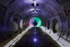 Master of reality (explored) (Kriegaffe 9) Tags: test lightpainting abandoned silhouette alien tunnel explore porthole round lp spaceship portal turbine kerpow explored cell1 ngte pyestock facitily