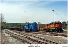 Copperhill Yard (Robert W. Thomson) Tags: railroad train diesel tennessee railway trains locomotive trainengine geep ncsl copperhill emd gp382 gp38 gatx gp7 ncstl tvrm gmtx fouraxle nashvillechattanoogaandstlouis