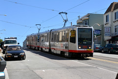 Muni 1550 [San Francisco tram] (Howard_Pulling) Tags: sanfrancisco camera usa america us nikon tram april trams strassenbahn 2013 hpulling d5100