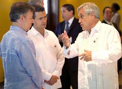 Presidentes Juan Manuel Santos, Enrique Peña Nieto y Sebastián Piñera.