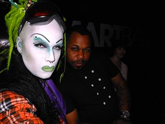 SAL-E and DERRICK CARTER at Smart Bar on 3-03-2013 (SAL-E) Tags: chicago club hair fur drag costume scary artist glow sale painted clown makeup queen host freak dragqueen clowns creature dreads synthetic freaks clubkid smartbar clubcreature freakdrag housemusicdanceparty 20130304queen