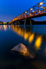 Connection (Shutter wide shut) Tags: longexposure bridge blue rock reflections singapore punggol starburst starbursts leadinglines twilght loronghalus canonef2470mmf28liiusm canoneos5dmarkiii canongpsreceivergpe2