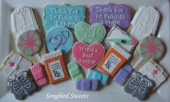 Medical Themed Cookies (Songbird Sweets) Tags: medical xray labcoat lollipops stethoscope sugarcookies bandaids songbirdsweets
