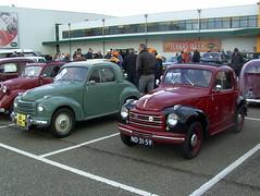 1952 Fiat 500C and 1951 Fiat 500C cabriolet (Davydutchy) Tags: auto classic netherlands car automobile ride fiat voiture 500c 500 rit friesland cinquecento topolino drachten classique klassiker fryslân veterán sligro zesdorpentocht nd3151