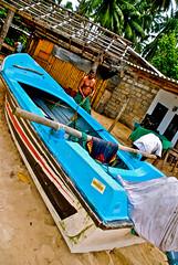 Beached Boat, Unawatuna, Sri Lanka (itcho_ittan) Tags: photography photos digitalcamera srilanka traveling 2009 kandy unawatuna sigiriya travelphotography srilankans travelinasia nikond80 srilankatea peopleofsrilanka travelinginasia srilankafarming