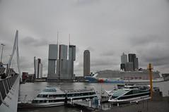 Norwegian Breakaway (ralphontravel) Tags: dutch boats rotterdam cloudy norwegian nederlands erasmusbrug breakaway cruiseterminal spido erasmusbridge cruiseschip