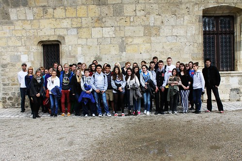 Alumnado do IES A Cachada en Francia, no programa Comenius
