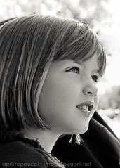 Little Gaze (Images by April) Tags: portrait blackandwhite monochrome canon children child prettyeyes blackandwhiteportrait 550d t2i