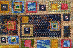 Klimtesque 5 Journal Quilt (Frieda Oxenham) Tags: klimt journalquilts contemporaryquilt