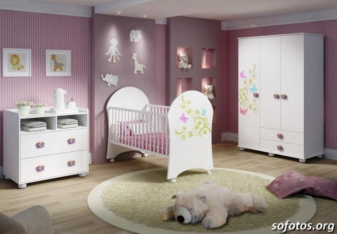 Quarto de bebê lilas lindo