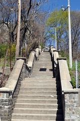 Public stairway, Dorchester (Blake Gumprecht) Tags: public boston stairs massachusetts stairway dorchester savinhill