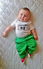 Smile! (.OhSoBoHo) Tags: boy baby cute sweet gap henry babygap fourmonthsold cameratee nokialumia920