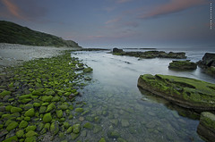 Gualdamesi azul y verde. (Francisco J. Prez.) Tags: naturaleza verde nature night landscape mar spain paisaje panoramica nocturnas cdiz playas algeciras pentaxart pentaxk5 franciscojprez