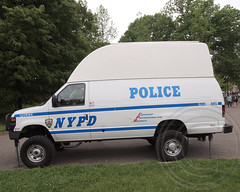 NYPD Pop-Up Surveillance Vehicle, Prospect Park, Brooklyn, New York City (jag9889) Tags: city nyc blue ny newyork tower car brooklyn booth observation automobile surveillance police nypd transportation vehicle van department finest skywatch firstresponders 2013 newyorkcitypolicedepartment pbbx jag9889