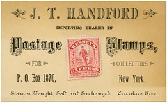 J. T. Handford, Importing Dealer in Postage Stamps for Collectors (Alan Mays) Tags: old newyorkcity red ny newyork men vintage ads paper advertising cards typography stamps antique 19thcentury victorian ephemera businesscards type names wallstreet collectors pinestreet advertisements fonts printed printers typefaces hussey nineteenthcentury 1880s messengers dealers postagestamps discolored handford importers tradecards seebeck easson proprietors specialmessage stampcollectors stampdealers jthandford localstamps husseysexpress reasson nfseebeck nicholasfseebeck