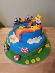 super mario land kart rainbow road birthday cake rainbow road (silkience72) Tags: road birthday cake rainbow princess peach super mario land kart luigi flickrandroidapp:filter=none