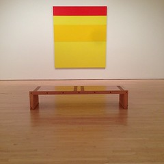 SFMOMA (snow_bunny100) Tags: museum bench painting square gallery room arts sfmoma squareformat iphoneography instagramapp uploaded:by=instagram