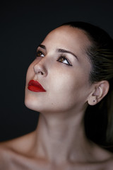 Zety (ofirabe) Tags: light red portrait make up portraits nude lips clean catch abe retouch mua ofir