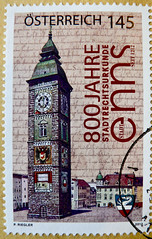 great stamp Austria 145c (Enns City, 800 anniversary of grant privileges of a town, Stadterhebung, Stadtrecht, bell & clock tower) Autriche postes timbre   sterreich Briefmarke marka Porto   Enns Obersterreich Upper Austria sellos (thx for sending stamps :) stampolina) Tags: city orange tower postes austria oostenrijk sterreich 1212 anniversary landmarks belltower clocktower stamp porto postal timbre 800 naranja arancio obersterreich postage postzegel sights franco schilling autriche vis selo enns marka sello sellos sterrike upperaustria sehenswrdigkeiten postagestamps pulu  briefmarke  francobollo  timbres timbreposte bollo  timbresposte  timbru republiksterreich   estampill frankatur odl  bollato postapulu  jyu yupio  perangkoperangko