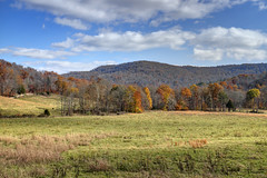 Skinner Mountain, Fentress County, Tennessee (Chuck Sutherland) Tags: blue autumn sky fall field tn tennessee partlycloudy skinnermountain fentresscounty