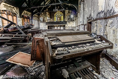 Decayed (ashleydiener) Tags: abandoned abandonedbuilding abandonedchurch piano church chicago