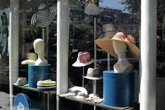 streetfashion4 (lux fecit) Tags: street fashion paris window hats caps