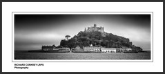 St Michael's Mount (Chalky666) Tags: landscape sea seascape cornwall boats mono art harbour fishing painterly
