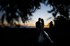 P & K (JuNu_photography) Tags: couple wedding portrait portraiture silhouette framing sunset flickrunitedaward