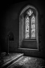 Avebury church window (Daz Smith) Tags: dazsmith canon6d bw blackwhite blackandwhite bath city streetphotography canon citylife thecity urban uk monochrome blancoynegro avebury glass window light stone ornate