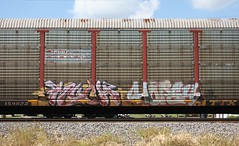 Much/Hope4 (quiet-silence) Tags: graffiti graff freight fr8 train railroad railcar art much hope4 hm autorack conrail