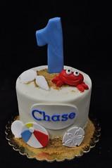 Beach smash cake (jennywenny) Tags: smash cake beach crab first birthday sand